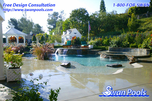 Swan Pools Custom Designs A Private Beach 2004 Pool