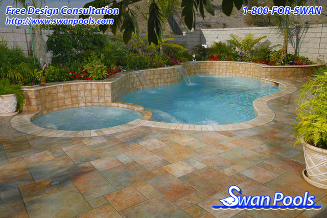 Swan Pools Custom Designs - Soft Colors, Subtle Shapes contemporary pool