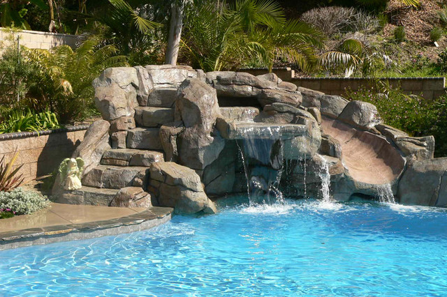 Swan Pools Swimming Pool Company Waterfalls Tropical Pool Orange County By Swan