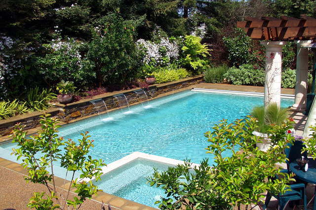 Swan pools swimming pool contractor peaceful dreams contemporary pool san francisco for Swimming pool meaning in dreams
