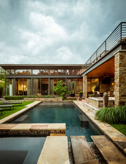 Swananoah residence contemporary pool dallas by for Pool design dallas