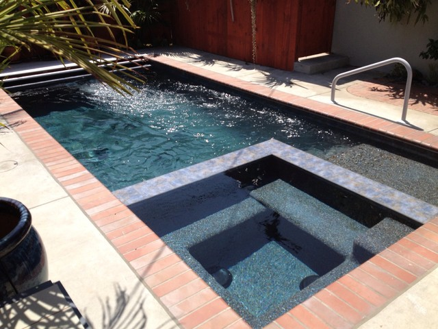 Swim jet pool traditional pool orange county by for Spa builders