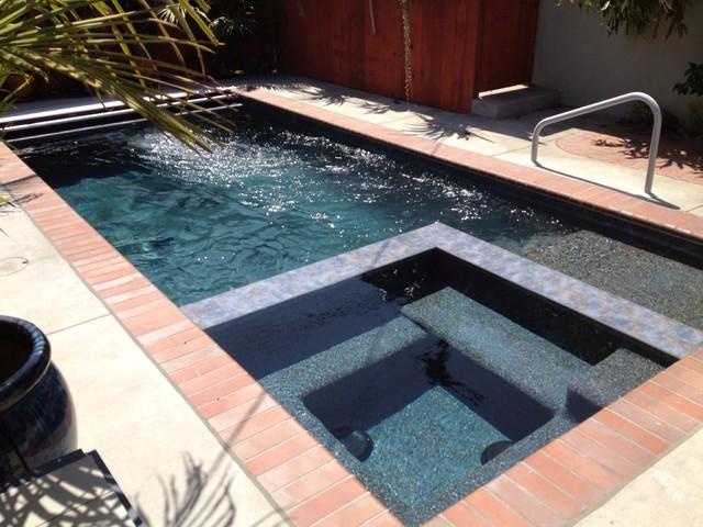 Jet Swim Spa : Swim jet pool traditional orange county by