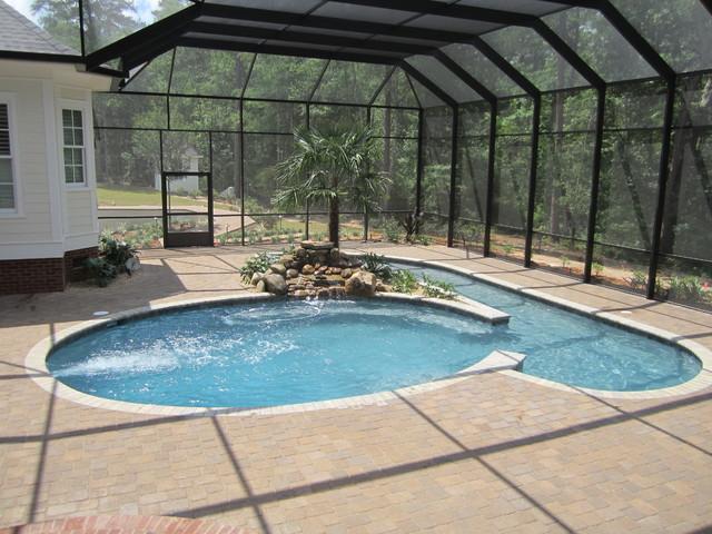 Swim Jet Pool - Tropical - Pool - Atlanta - by Mystic Pools