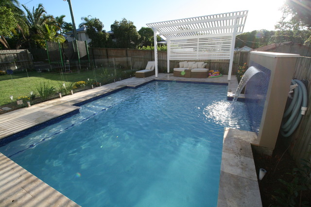 Swimming pool and backyard landscape ashgrove for 3d pool design brisbane