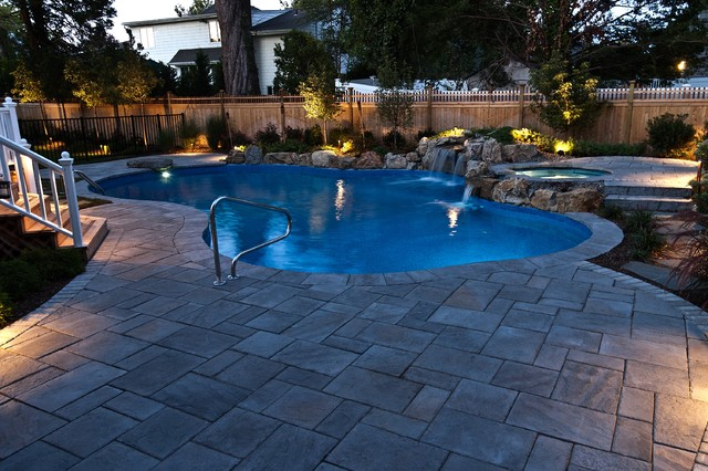 Charmant Swimming Pool And Spa Massapequa Long Island   Traditional ...
