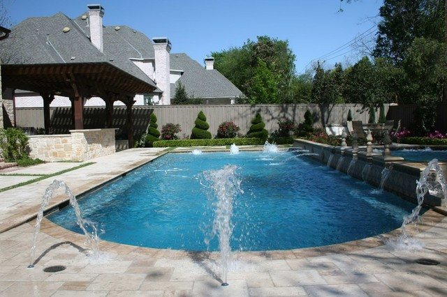 Swimming pool deck jets - Transitional - Pool - Dallas - by ...
