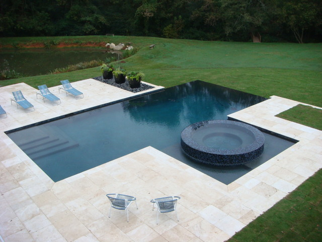 Swimming pool designs contemporary pool atlanta by douglas c lynn llc landscape - Swimming pool landscape design ideas ...
