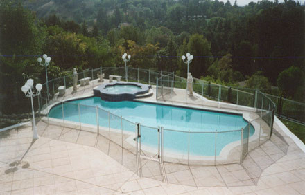 swimming pool fencing ideas traditional pool
