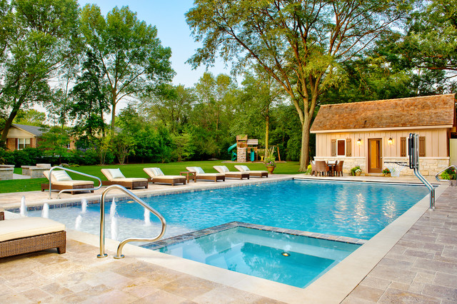 Swimming pool glencoe il traditional pool chicago for Pool design hours