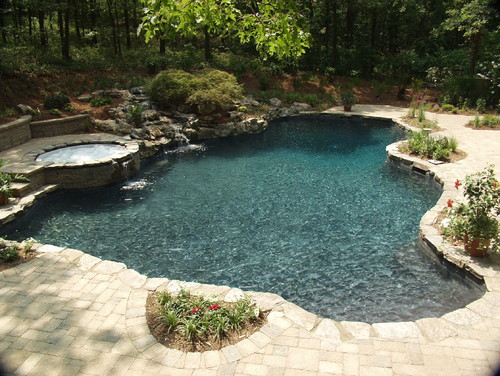 Beautiful Pool And Landscaping What Type Of Plaster Color Was Used For The Pool And Paver Color