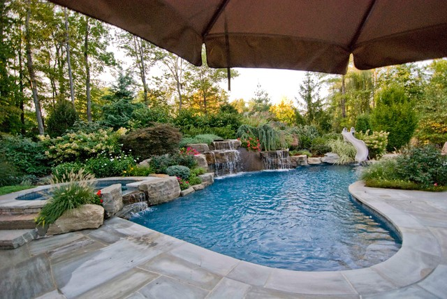 swimming pool landscaping ideas bergen county northern nj - traditional - pool - new york