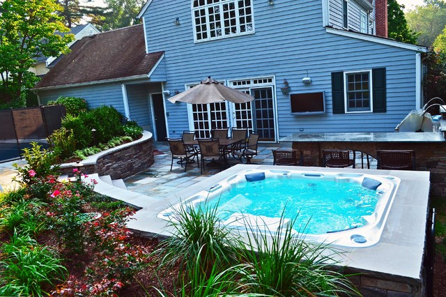 Swimming pool landscaping ideas bergen county northern nj for Pool design inc bordentown nj