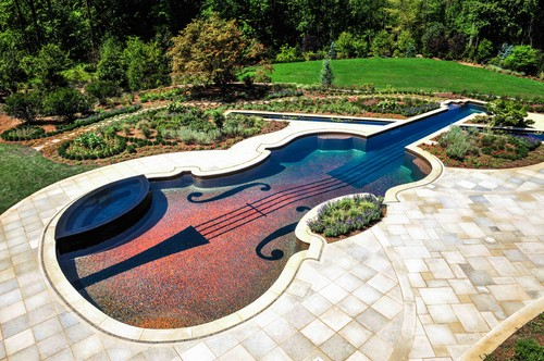 eclectic pool art home decor