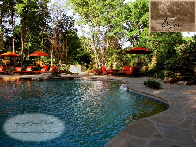 Swimming Pool, Masonry & Landscaping Project traditional