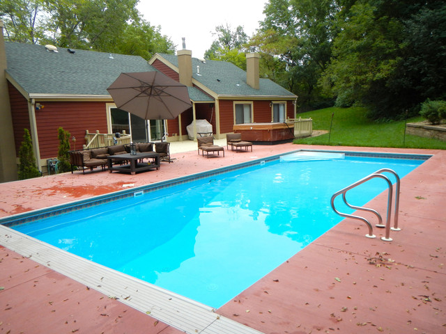Swimming Pool Project In Sw Rochester Mn Midcentury Pool