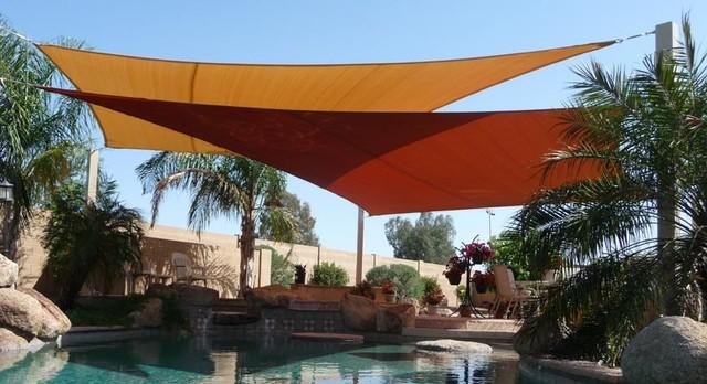 swimming pool shade sails by tenshon llc