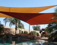 swimming pool shade sails by Tenshon, LLC contemporary-pool