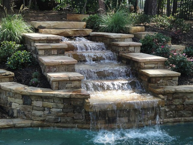 Swimming Pool Water Features Traditional Pool Atlanta By Georgia Classic Pool