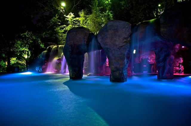 Swimming Pool Waterfalls Tropical Manchester NH