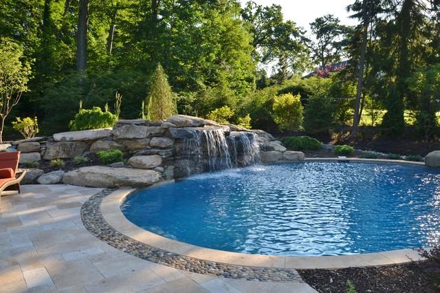 Swimming Pool Waterfalls Traditional Pool