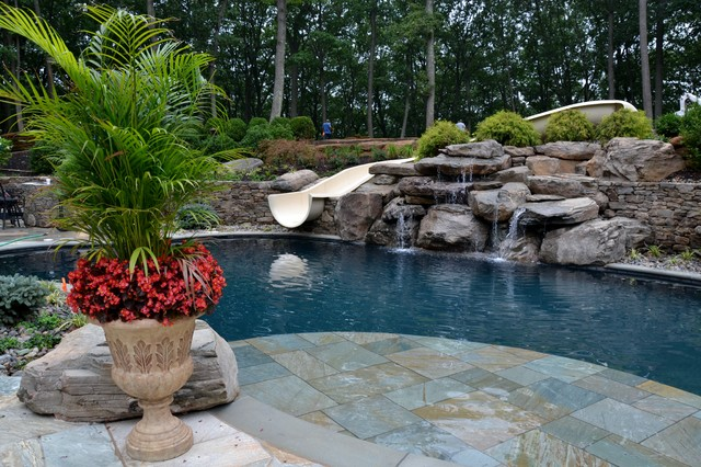 Swimming Pool Waterfalls - Traditional - Pool - other metro - by ...