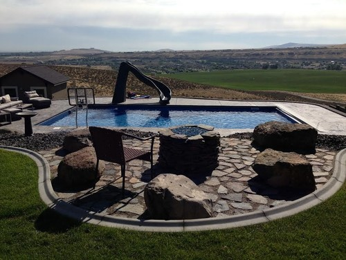 fire pit ideas and Myriad Designs by Kennewick Pools & Spas