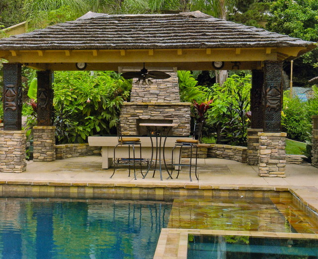 Swimming pools spas grottos waterfalls cascades and - How to build a swimming pool waterfall ...