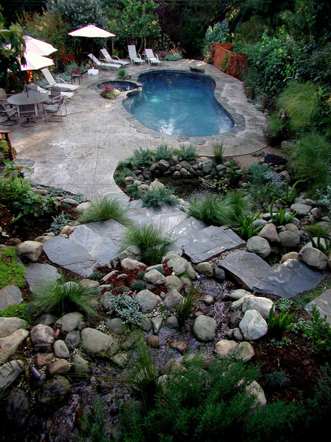 Swimming pools rustic pool los angeles by stout for Pool design los angeles