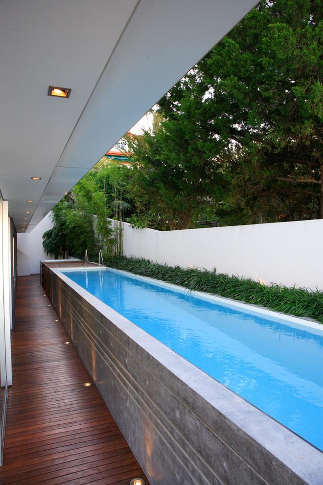 Minimalist lap pool photo in Sydney