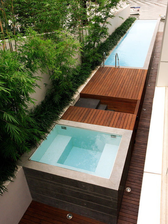 Narrow Backyard Pool : Small Yard Pool Design Home Design Photos