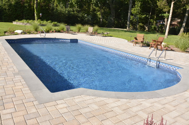 syosset new york back yard pool design archbold traditional pool new york by autumn