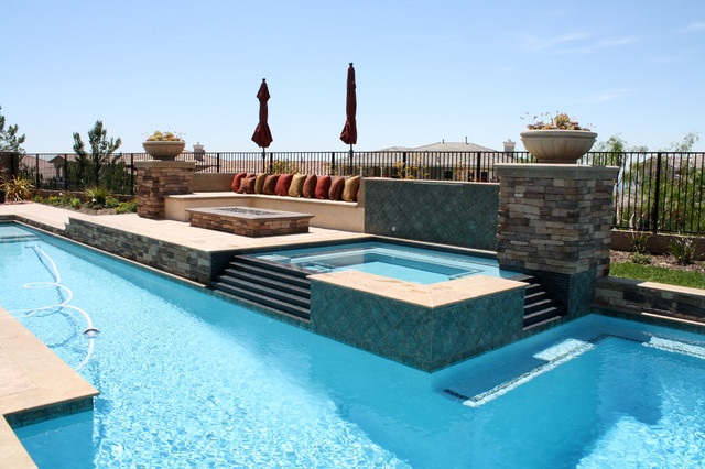 Talavera terrace mediterranean pool los angeles by green scene landscaping pools for Swimming pool supplies los angeles