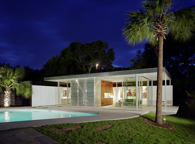 Modern Houses With Pool Tarrytown Pavilion Modern Pool Austin By Steinbomer Bramwell