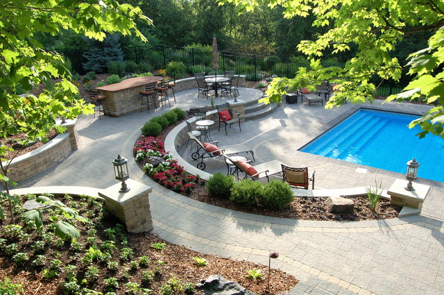 Terraced Backyard Pool : Terraced pool project  Traditional  Pool  minneapolis  by Daryl