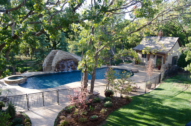 Texas Hill Country Style traditional pool