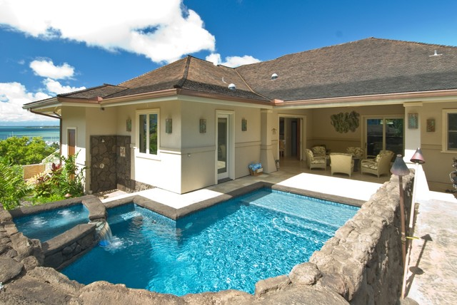 The bay house tropical pool hawaii by archipelago for Home plans hawaii