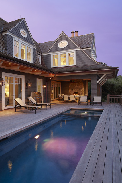 The beach house beach style pool charleston by the for Beach house plans with pool