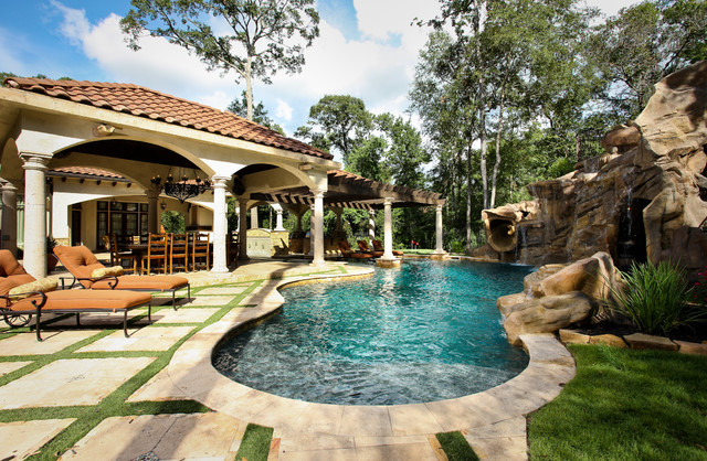 The Formal Natural Mix Mediterranean Pool Houston