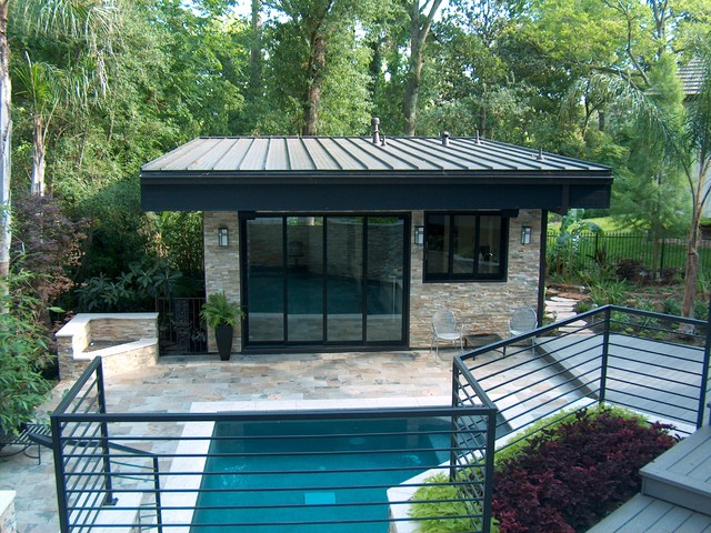 The Leblanc Cox Residence Modern Pool Houston By