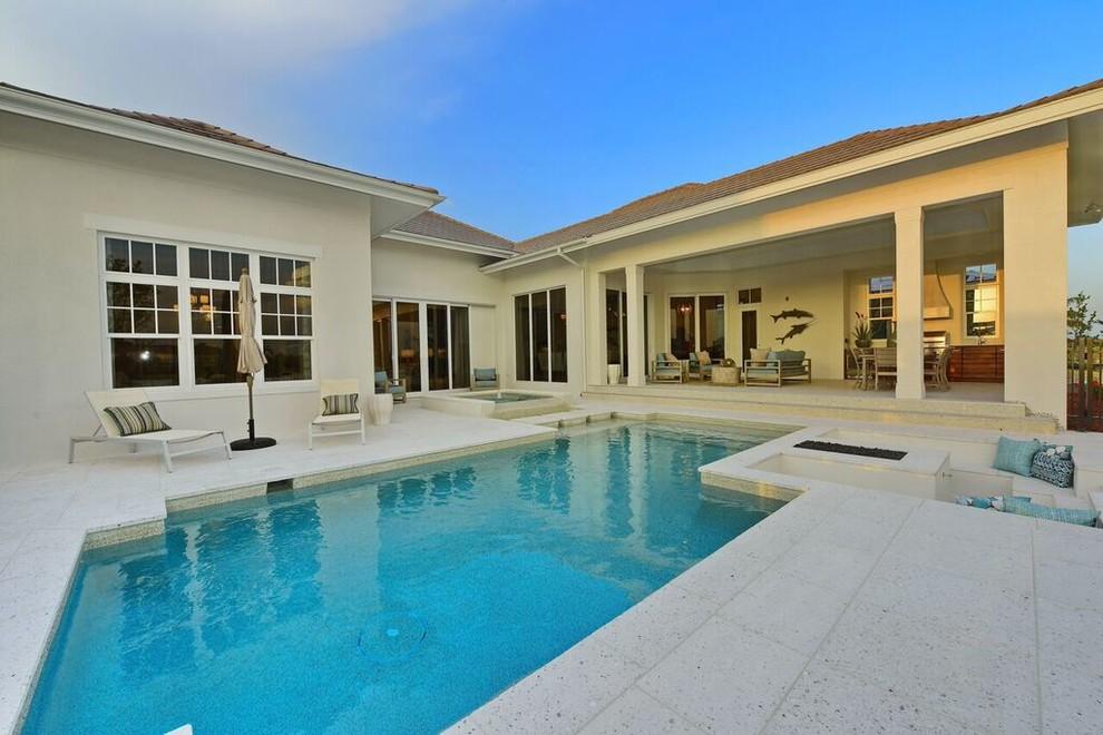 The Leeward Modern Pool Tampa By Nutter Custom Construction Llc