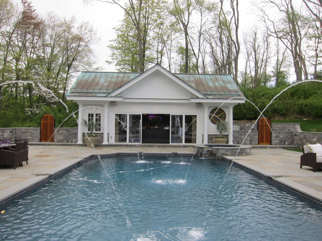 The Pool House traditional-pool