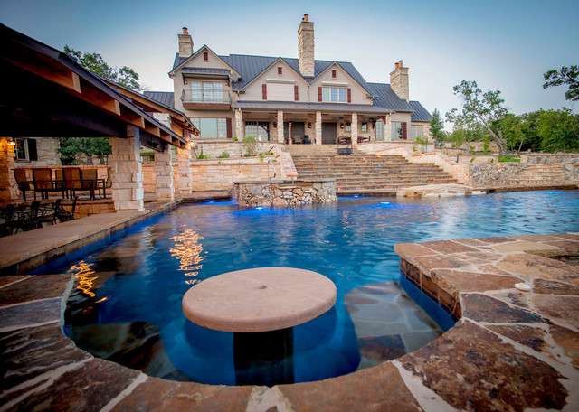 The Ranch Traditional Pool Austin By Cascade Custom Pools