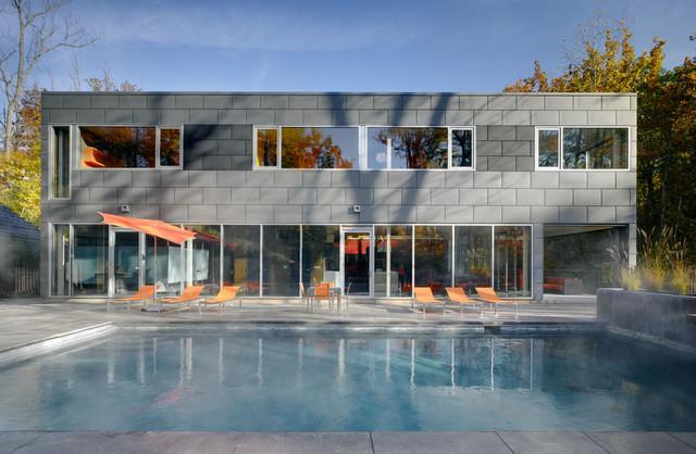 The zinc house for Modern zinc houses