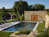 farmhouse pool Houzz Tour: A Contemporary Home on a Working Farm (11 photos)