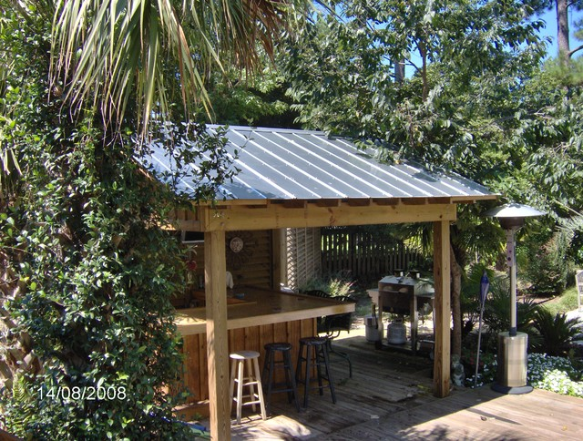 Tiki hut tropical pool other by tc williams llc for Garden pool sheds