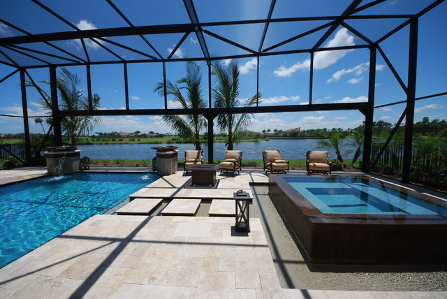Toll Brothers Pool Screen Contemporary Pool Miami