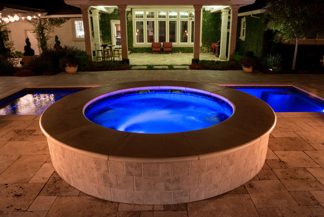 Tracy Ca Mediterranean Meets Tuscan Pool Mediterranean Swimming Pool Sacramento By