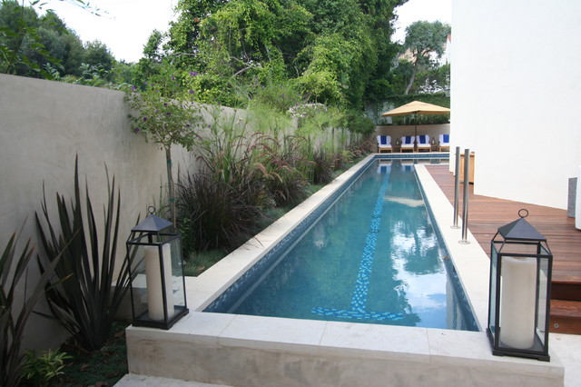 Traditional and Formal Pools modern-pool