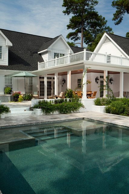 Traditional Contemporary Outdoor Living - Traditional - Pool - Wilmington - by Tongue & Groove Design+Build By Mark Batson